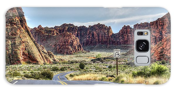 Slow Down In Snow Canyon Galaxy Case