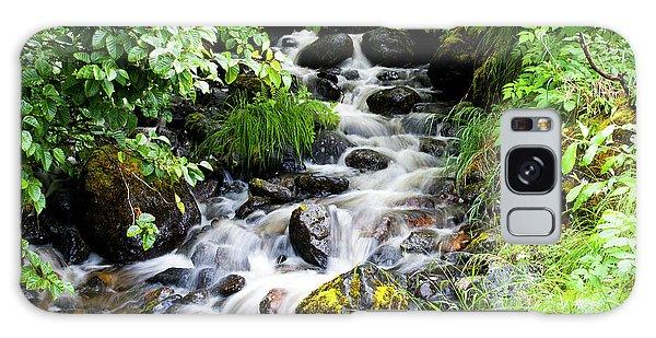 Small Alaskan Waterfall Galaxy Case