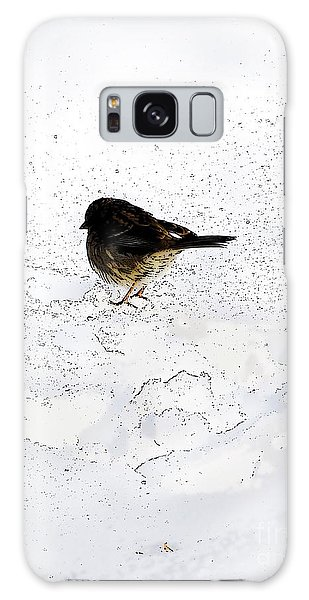 Small Bird On Snow Galaxy Case