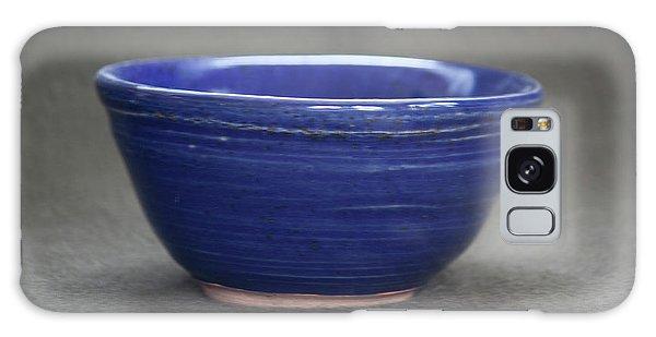 Small Blue Ceramic Bowl Galaxy Case by Suzanne Gaff