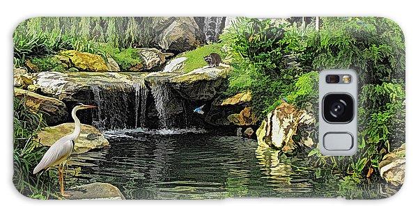 Small Creek Waterfall With Wildlife Galaxy Case