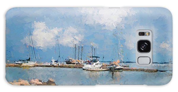 Small Dock With Boats Galaxy Case