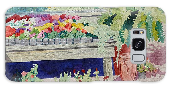 Small Garden Scene Galaxy Case