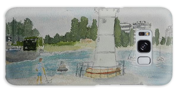 Small Lighthouse One Belmore Basin Galaxy Case