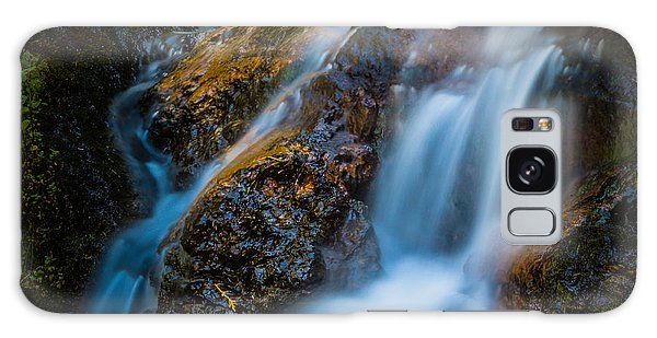 Small Mountain Stream Falls Galaxy Case