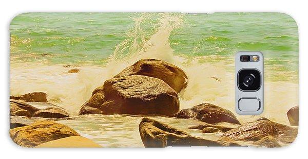 Small Ocean Waves,large Rocks. Galaxy Case