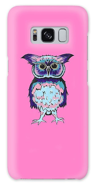 Small Owl Pink Galaxy Case