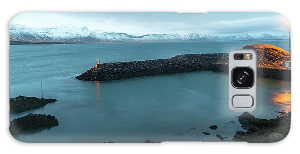 Galaxy Case featuring the photograph Small Port Near Snaefellsjokull Mountain, Iceland by Dubi Roman