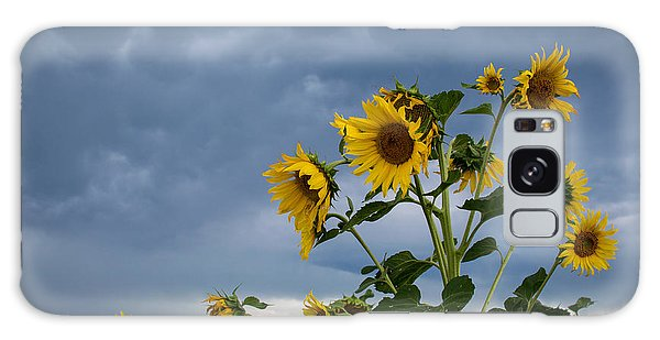 Small Sunflowers Galaxy Case