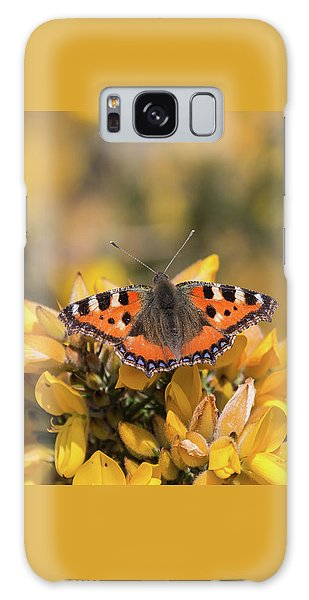 Small Tortoiseshell On Gorse Galaxy Case