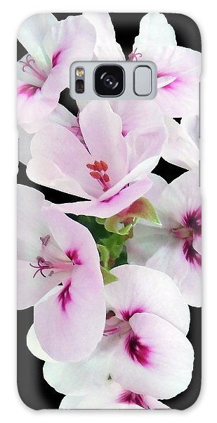 Small White Beauties On Black Galaxy Case