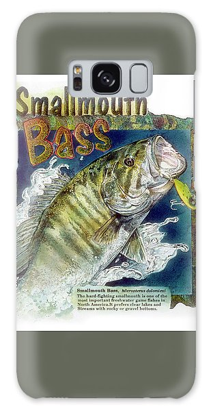 Galaxy Case featuring the drawing Smallmouth Bass by John Dyess