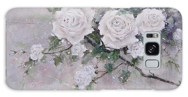 Smell The Roses  Galaxy Case by Laura Lee Zanghetti