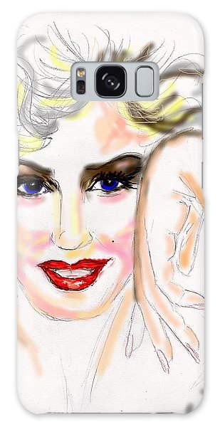 Smile For Me Marilyn Galaxy Case by Desline Vitto