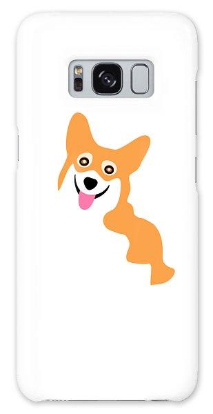 Smiling Corgi Pup Galaxy Case
