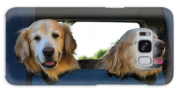 Smiling Dogs Galaxy Case