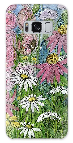 Smiling Flowers Galaxy Case