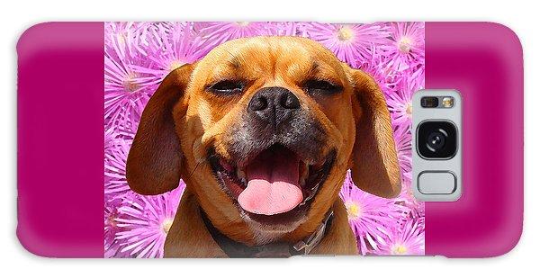 Smiling Pug Galaxy Case