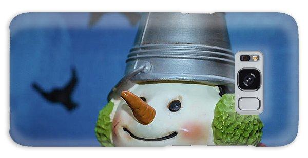 Smiling Snowman Galaxy Case