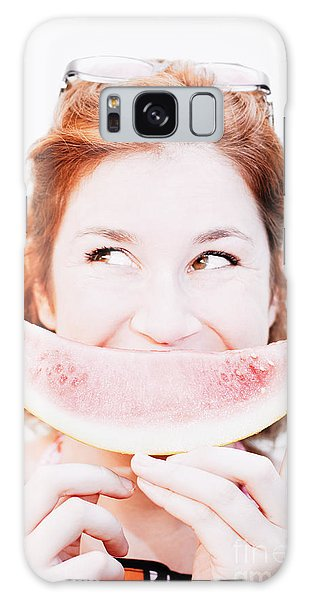 Smiling Summer Snack Galaxy Case by Jorgo Photography - Wall Art Gallery