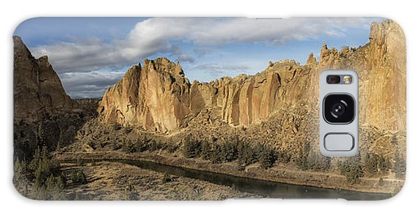 Galaxy Case featuring the photograph Smith Rock And Crooked River Panorama by Belinda Greb