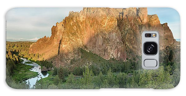 Smith Rock First Light Galaxy Case by Greg Nyquist