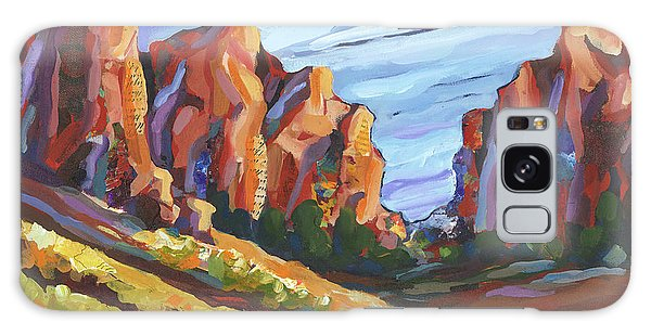 Galaxy Case featuring the painting Smith Rock I by Shelli Walters