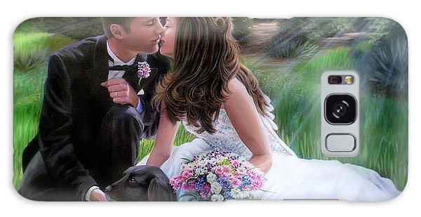 Smith Wedding Portrait Galaxy Case by Jane Girardot