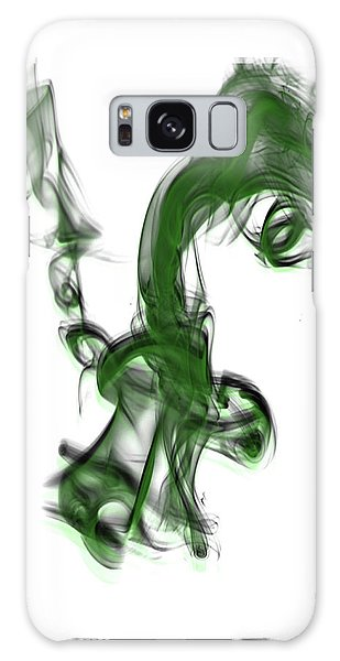 Smoke 01 - Green Galaxy Case