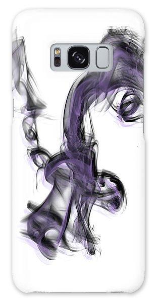 Smoke 01 Purple Galaxy Case