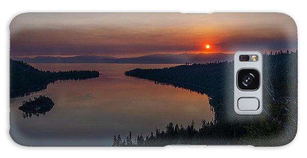 Smoke-diffused Sun At Emerald Bay Galaxy Case