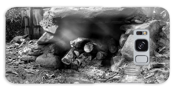 Smoke From Moonshine Still In Black And White Galaxy Case
