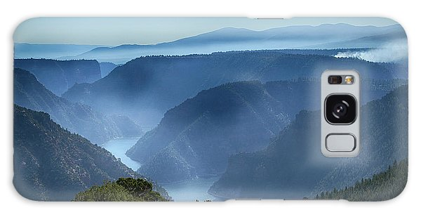 Smoke Over Flaming Gorge Galaxy Case