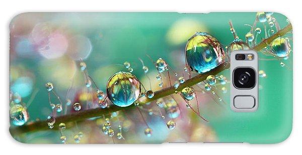 Shrub Galaxy Case - Smokey Rainbow Drops by Sharon Johnstone