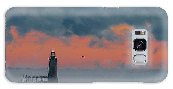 Smokey Sunrise At Ram Island Ledge Light Galaxy Case