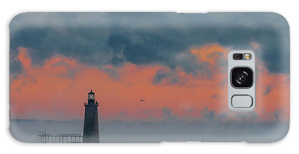 Smokey Sunrise At Ram Island Ledge Light Galaxy Case