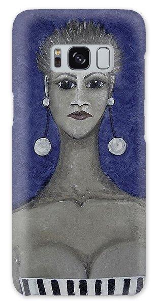Galaxy Case - Smoking Woman 3 - Blue by Joan Stratton