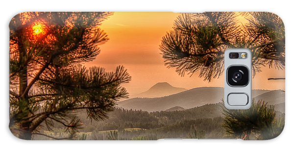 Smoky Black Hills Sunrise Galaxy Case