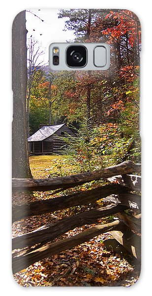 Smoky Mountain Log Cabin Galaxy Case