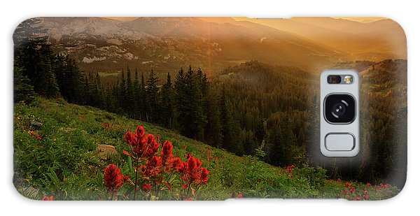 Smoky Wasatch Sunset Galaxy Case