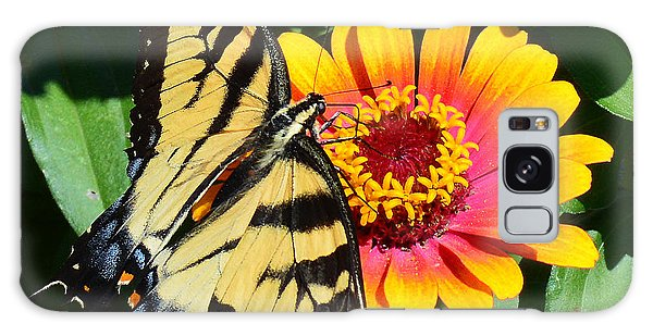 Snacking Tiger Swallowtail Butterfly Galaxy Case