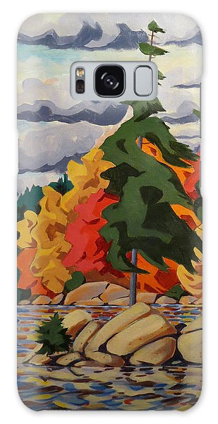 Snake Island In Fall-close Galaxy Case by David Gilmore