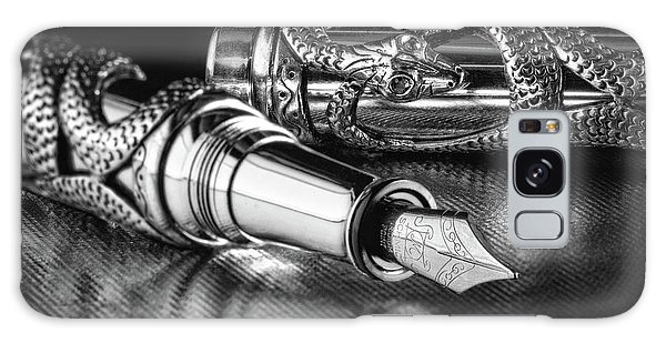 Snake Pen In Black And White Galaxy Case