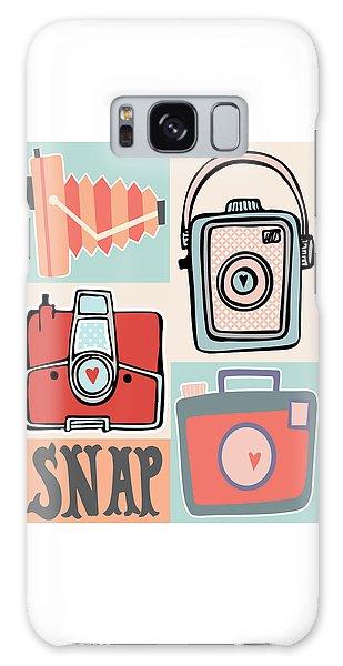 Vintage Camera Galaxy Case - Snap - Vintage Cameras by Colleen VT