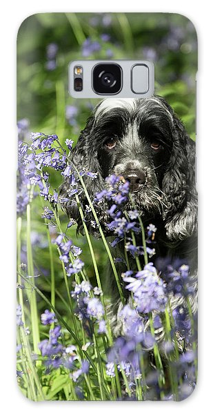 Sniffing Bluebells Galaxy Case