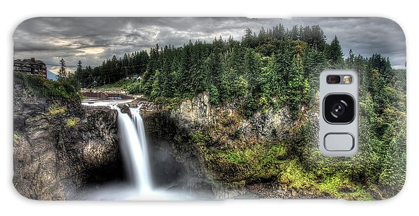 Snoqualmie Falls Storm Galaxy Case by Shawn Everhart