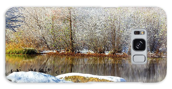 Snow Across The Lake Galaxy Case