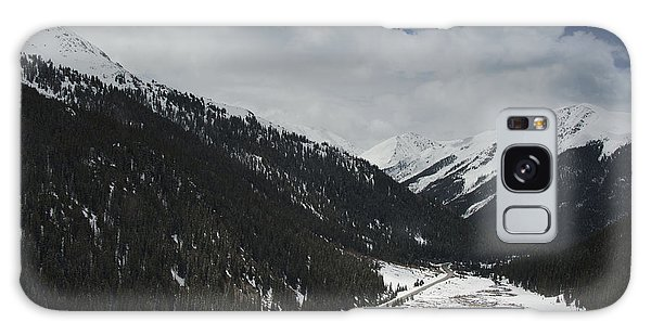 Snow At Independence Pass Colorado Highway 82 Galaxy Case