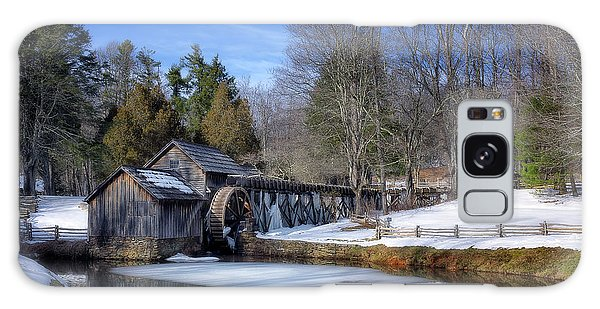 Snow At Mabry Mill Galaxy Case