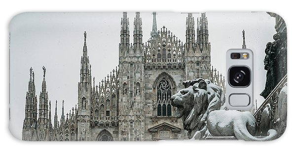 Snow At Milan's Duomo Cathedral  Galaxy Case
